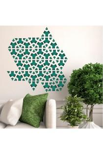 Walplus Wall Flexi Green Triangle Geometry Pattern Wall Stickers