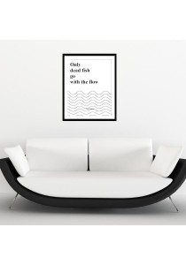 Walplus Frame - Fish Quote Wall Stickers