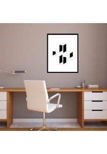 Walplus Frame - 3D Hollow Cross Quote Wall Stickers