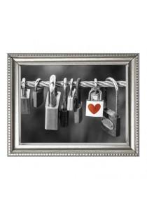 Walplus Frame - Padlocks with Heart Shape Wall Stickers