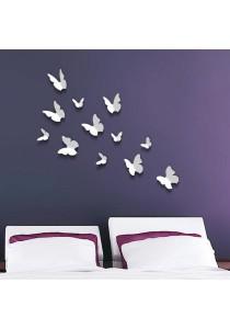 Walplus 12pcs 3D White Butterflies