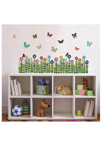Walplus Double Colorful Butterflies Wall Stickers