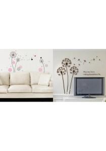 Walplus Combo Big & Small Dandelion Wall Stickers