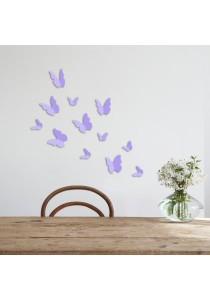 Walplus 12pcs 3D Lavender Butterflies