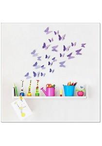 Walplus 3D Lavender Butterflies Wall Stickers (36pcs)