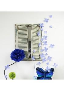 Walplus 12pcs 3D Lavender Blossom Wall Stickers