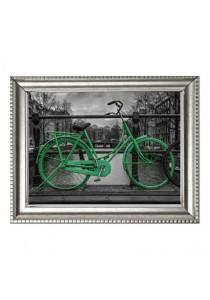 Walplus Frame - Green Bicycle Wall Stickers