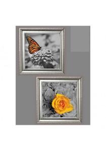 Walplus Frame - Flower & Butterflies Wall Stickers