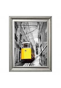 Walplus Frame - Yellow Tram in Lisbon Wall Stickers