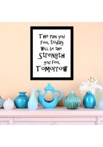 Walplus Strength Quote Frame Wall Stickers