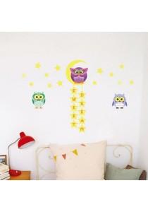 Walplus Owl Tree Star Glow In The Dark Wall Stickers