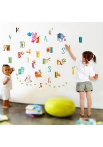 Walplus Kids Learning A-Z Alphabet Wall Stickers