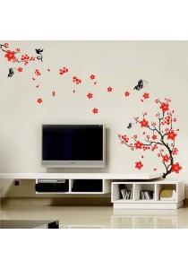 Walplus Red Blossom Wall Stickers