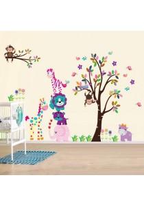 Walplus Colorful Animals Wall Stickers (XXL Series)