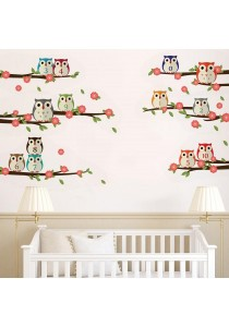 Walplus Nursery Owl Numbering Wall Stickers