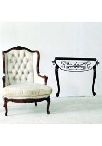 Walplus Furniture Set - Antique Side Table Wall Stickers