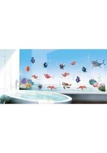 Walplus Stock Clearance Sea Fish & Friends Wall Stickers