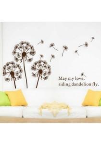 Walplus Brown Dandelion Wall Stickers