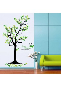 Walplus Green Tree Photo Frame Wall Stickers (XL Series)