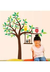 Walplus Cute Owl Tree Wall Stickers (XL Series)