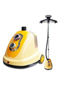 Blisshome Hanging Garment Steamer Steam Clothes Electric Iron 1700w 1.4 Liter (Yellow)
