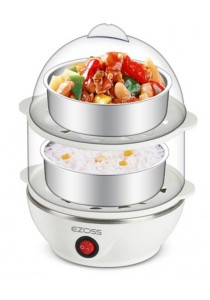 Blisshome Ezoss EG3372 Egg Maker Plus Food Steamer (White)