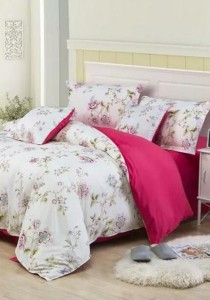Bliss New Eu-Floral Design 2 Fitted Bedding Set (Queen)