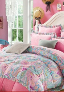 Bliss New Novelty Design 4 Fitted Bedding Set (Queen)