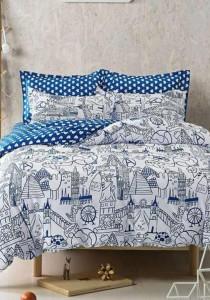 Bliss New Scandinavian Design 5 Fitted Bedding Set (Queen)