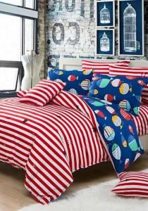 Bliss New Eu Design 4 Fitted Bedding Set (Queen)