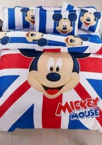 Blisshome Mickey Design 2 Fitted Bedding Set with Quilt Cover (Queen)