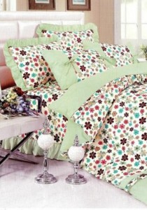 Bliss Home Rain Flower Non-fitted Bedsheet Set