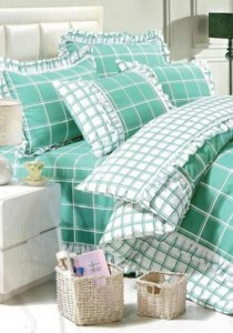 Bliss Home Lattice Ribbon Non-fitted Bedsheet Set