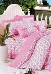 Bliss Home Sunny Pinky Design Non-fitted Bedsheet Set