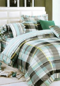 Bliss Home Lattice Euro Design Non-fitted Bedsheet Set