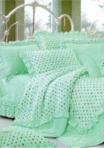 Bliss Home Polka Dot Design Non-fitted Bedsheet Set