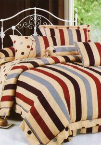 Bliss Home Polka Dot Ribbon Design Non-fitted Bedsheet Set