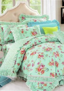 Bliss Home Elegance Roses Design Non-fitted Bedsheet Set