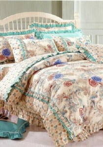 Bliss Home Sweet Memory Lace Non-Fitted Bedsheet Set