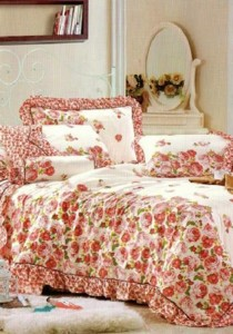 Bliss Home Little Roses Lace  Non-fitted Bedsheet Set