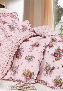 Bliss Home Vintage Design Lace Non-fitted Bedsheet Set