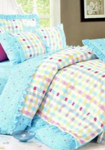 Bliss Home Romance Blue Design Non-fitted Bedsheet Set