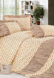 Bliss Home Lovely Brown Design Non-fitted Bedsheet Set