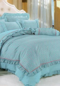 Bliss Home Angle Blue  Design Non-fitted Bedsheet Set