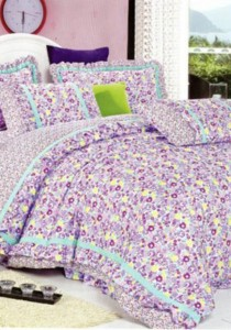 Bliss Home Sea PurpleDesign Non-fitted Bedsheet Set