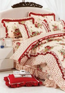 Bliss Home Love Roses  design Non-fitted Bedsheet Set