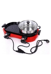 Luxury Kitchen 2nd Generation 2-in-1 Electric BBQ Grill and Steamboat