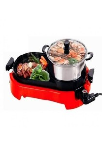 2-In-1 Electric BBQ Grill And Steamboat