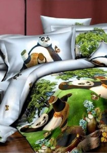 3D Kung Fu Panda Bedding Set With Quilt Cover (Single)
