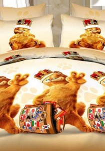 3D Garfield Fitted Bedding Set With Quilt Cover (Single)